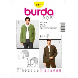 Jacket Sewing Pattern Burda n°7291