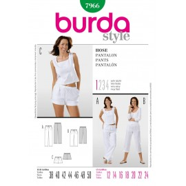 Pants Sewing Pattern Burda n°7966