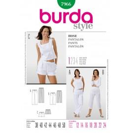 Patron Femme Pantalon Burda n°7966