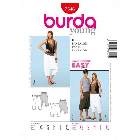 Patron Pantalon Burda n°7546