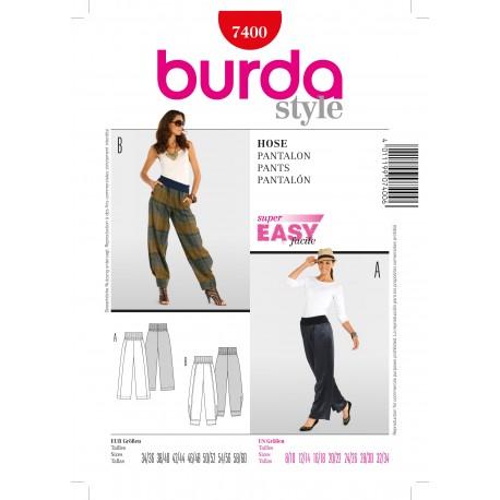 Pants Sewing Pattern Burda n°7400
