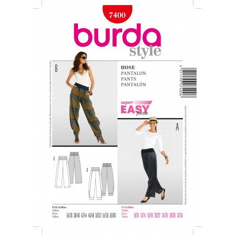 Patron Pantalon Burda n°7400