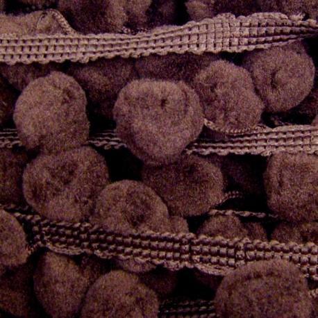 Galon pompon chocolat