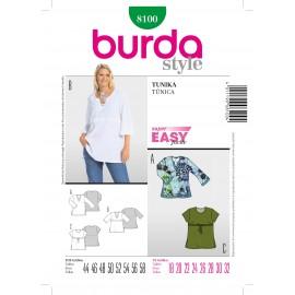 Patron Femme Tunique Burda n°8100