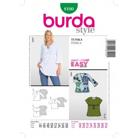 Patron Tunique Burda n°8100