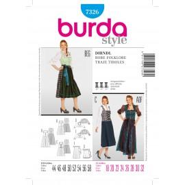 Patron Robe Folklore Burda n°7326