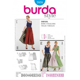 Folklore Dress Sewing Pattern Burda n°7870