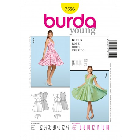 Patron Robe Burda n°7556