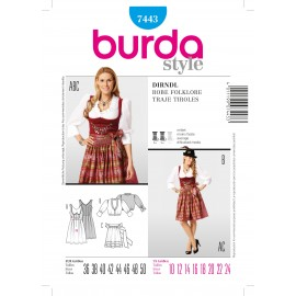 Patron Robe Folklore Burda n°7443