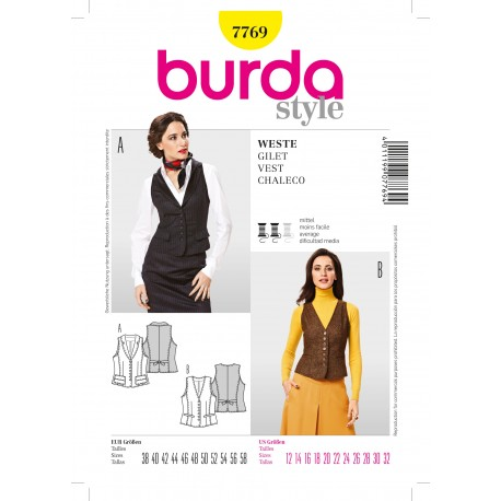 Vest Sewing Pattern Burda n°7769