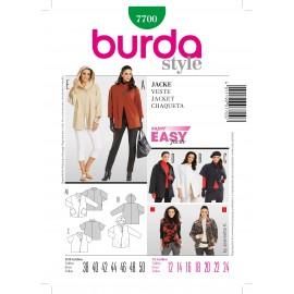 Patron Femme Veste Burda n°7700