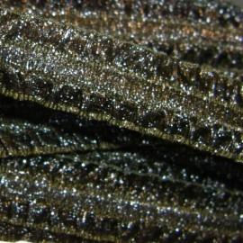 Ruban élastique Froufrou bronze