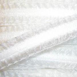Ruban  élastique Froufrou blanc