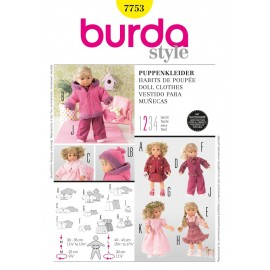 Doll Clothes Sewing Pattern Burda n°7753
