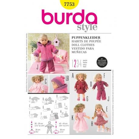 Doll Clothes Sewing Pattern Burda n°7753