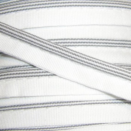 Striped Piping - Grey