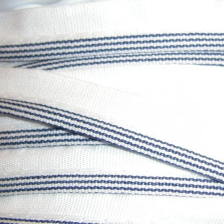 Striped Piping - Navy