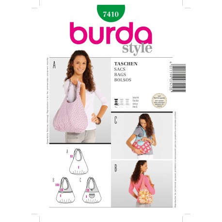 Bags Sewing Pattern Burda n°7410