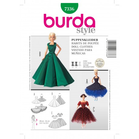 Patron Habits de poupée Burda n°7336