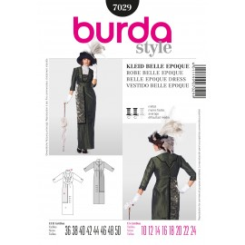 Patron Robe belle époque Burda n°7029