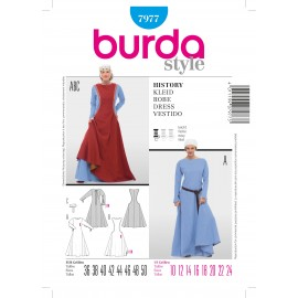 History Dress Sewing Pattern Burda n°7977