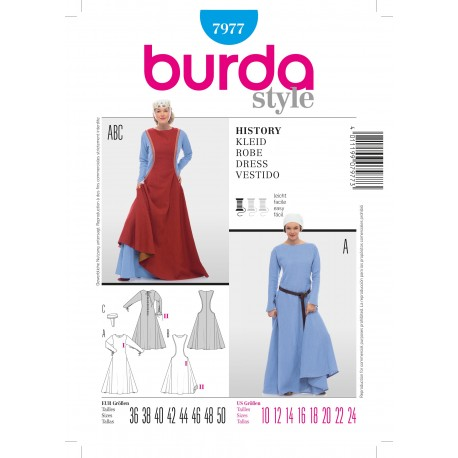 History Dress Sewing Pattern Burda n°7977