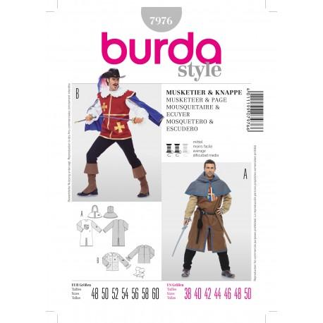 Patron Mousquetaire & Ecuyer Burda n°7976