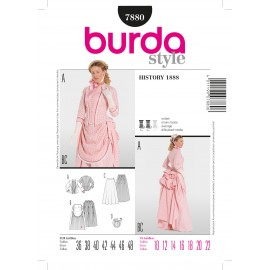 History 1888 Sewing Pattern Burda n°7880