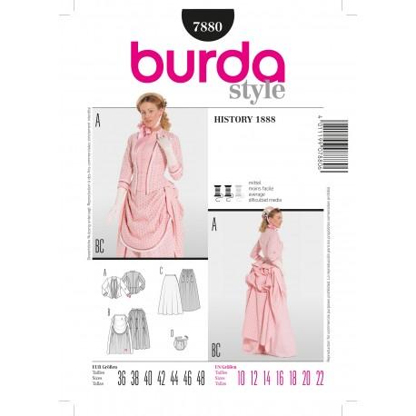 History 1888 Sewing Pattern Burda n°7880