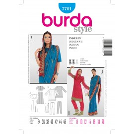 Indian woman Sewing Pattern Burda n°7701
