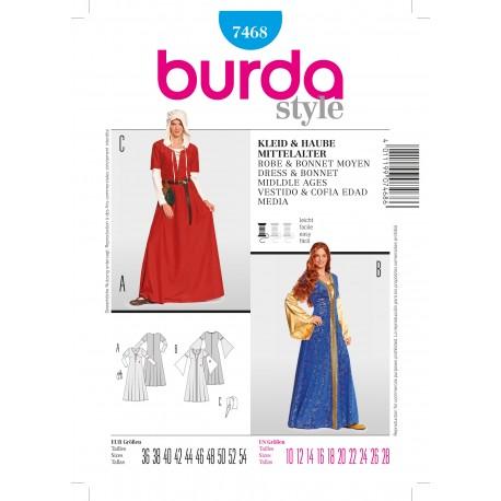 Patron Robe & Bonnet moyen Burda n°7468