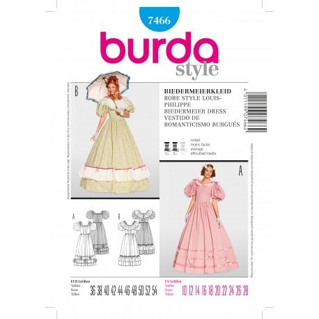 Patron Robe style louis-philippe Burda n°7466