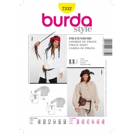 Pirate Shirt Sewing Pattern Burda n°7332