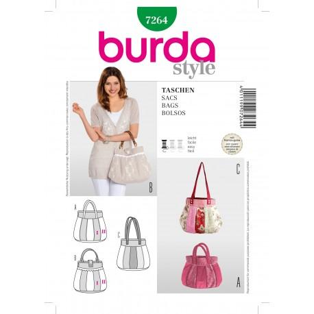 Patron Sacs Burda n°7264
