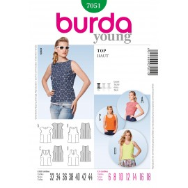Patron Pantalon Burda n°7050