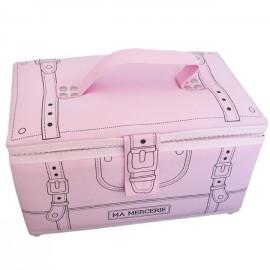 Boîte à couture Ma mercerie rose