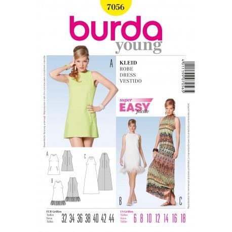 Dress Sewing Pattern Burda n°7056