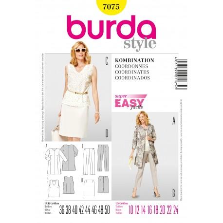 Coordinates Sewing Pattern Burda n°7075