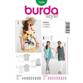 Patron Femme T-shirt Burda n°7098