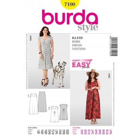 Dress Sewing Pattern Burda n°7100