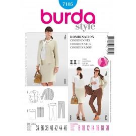 Patron Robe Burda n°7103