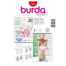Rabbit & Bear Sewing Pattern Burda n°7409