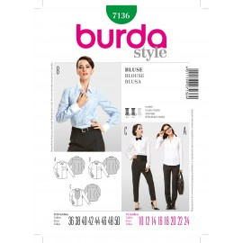 Blouse Sewing Pattern Burda n°7136