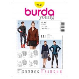 Patron Femme Veste Burda n°7140