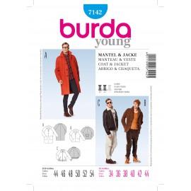 Patron Homme Manteau & Veste Burda n°7142
