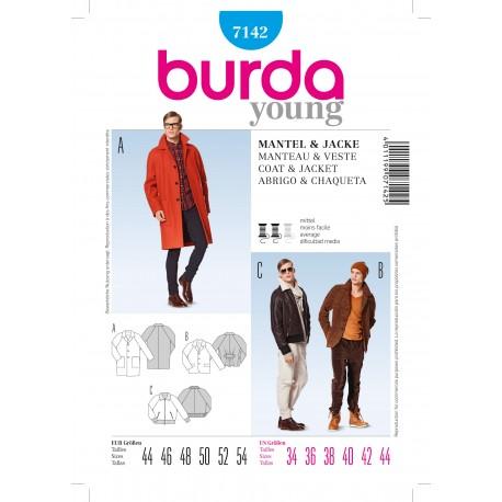 Coat & Jacket Sewing Pattern Burda n°7142