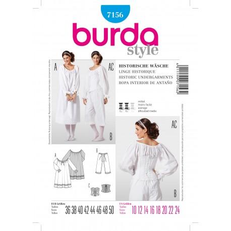 Patron Robe de soirée Burda n°7155
