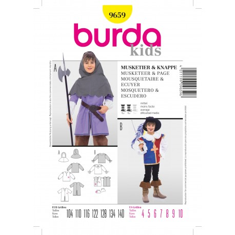 Musketeer & Horseman Sewing Pattern Burda n°9659