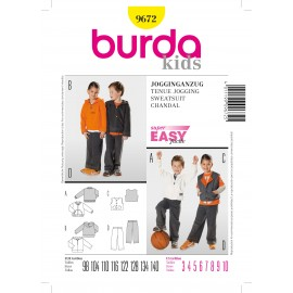 Sweatsuit Sewing Pattern Burda n°9672
