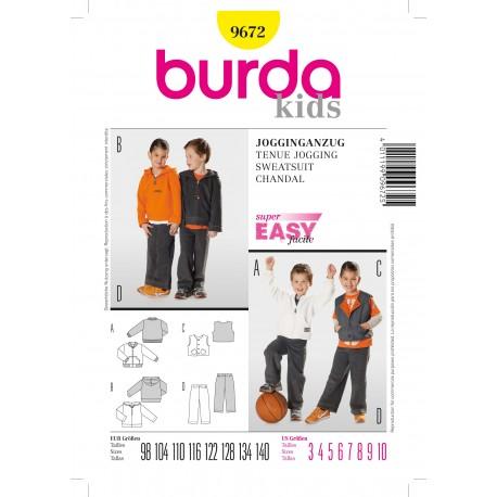 Sweatsuit Sewing Pattern Burda n°9672